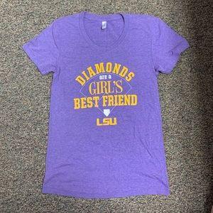 LSU Baseball Fitted T-shirt XL
